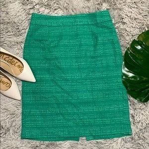 Banana republic turquoise tweed pencil skirt 4
